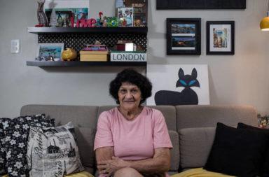 Linete Machado, 83, que têm demência vascular e cuida do marido que foi atropelado, Jan18